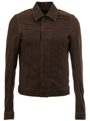 Rick Owens Classic Collar Jacket Brown