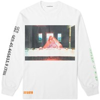 Flagstuff Long Sleeve Party Tee White