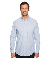 Dockers Long Sleeve Stretch Woven Shirt Delft Blue Clothing