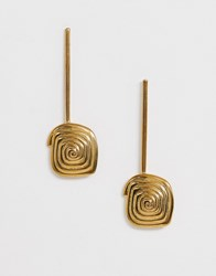 Whistles Spiral Drop Earrings Gold