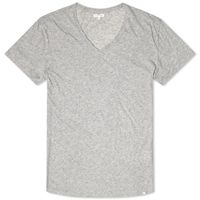 Orlebar Brown Bobby V Neck Tee Mid Grey Melange