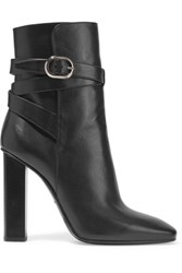 Emilio Pucci Leather Ankle Boots Black