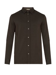 Bottega Veneta Single Cuff Checked Cotton Shirt Black Multi