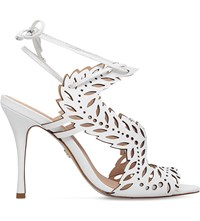 Kg By Kurt Geiger Horatio Cutout Leather Heeled Sandals White