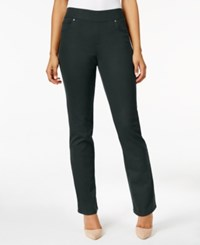 Style And Co Co. Pull On Slim Straight Leg Jeans Only At Macy's Carbon Grey
