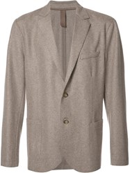 Eleventy Button Up Blazer Brown