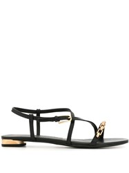 Stella Luna Chain Strap Sandals Black