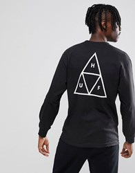 Huf Triple Triangle Long Sleeve T Shirt In Black