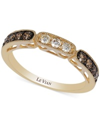 Le Vian Chocolate And White Diamond Ring In 14K Gold 3 8 Ct. T.W.