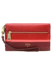 Fossil Wallet Crimson Red