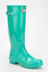 Hunter Original Gloss Rain Boot Green
