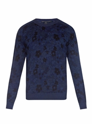 Marc By Marc Jacobs Floral Print Fine Knit Sweater
