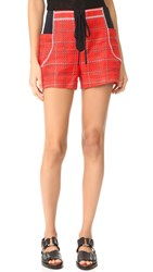 3.1 Phillip Lim Shorts With Front Tie Poppy