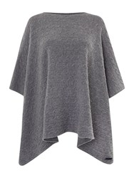 Gant Cable Knit Poncho Grey