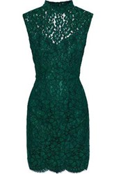 Sandro Romie Open Back Corded Lace Mini Dress Forest Green