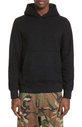 Ovadia And Sons Men's Distressed Hoodie Black