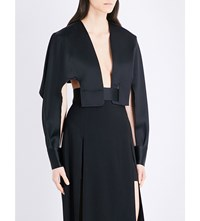 Chalayan Backless Satin Jacket Black
