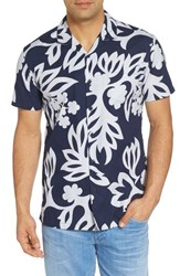 Kahala Simple Regular Fit Camp Shirt Navy