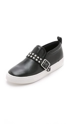 Marc By Marc Jacobs Kenmare Leather Low Slip On Sneakers Black