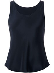 Peter Cohen Scoop Neck Top Blue