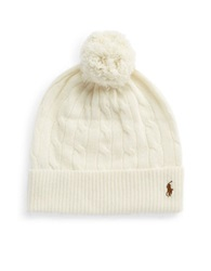 Polo Ralph Lauren Merino Wool And Cashmere Beanie Cream