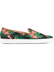 Alberto Moretti Floral Print Slip On Sneakers Multicolour