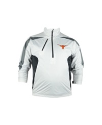 Antigua Men's Texas Longhorns Discover Half Zip Pullover Jacket White Gray