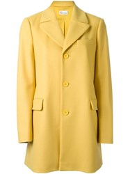 Red Valentino Single Breasted Coat Yellow And Orange