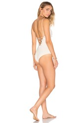 Tavik Monahan One Piece Swimsuit Ivory