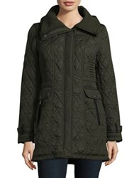 Weatherproof Knit Collar Long Sleeve Jacket Leaf