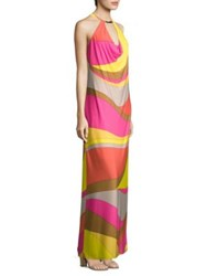 Trina Turk Multicolored Halter Dress