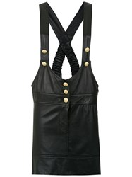 Andrea Bogosian Leather Salopette Black
