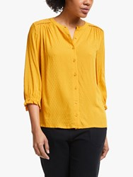 John Lewis Collection Weekend By Dobby Half Sleeve Shirt Yellow