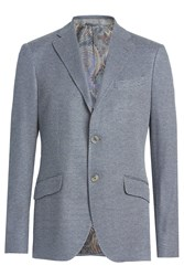 Etro Cotton Blazer Blue