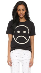 Marc By Marc Jacobs Magnified Sad Face Tee Black Multi