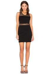 Bobi Black Double Knit Mesh Bodycon Dress