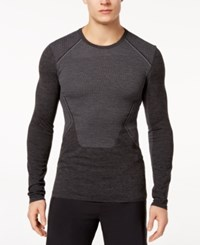 Ideology Men's Body Map Jacquard Long Sleeve T Shirt Created For Macy's Charcoal Heather