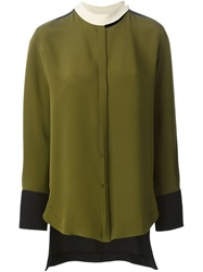 Petar Petrov Dropped Hem Blouse Green