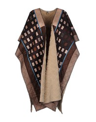 Blank Coats And Jackets Capes And Ponchos Dark Brown