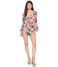 Billabong Sittin Pretty Romper Faded Rose Women's Jumpsuit And Rompers One Piece Pink