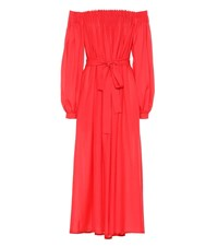 Gabriela Hearst Otalora Wool And Cashmere Dress Red