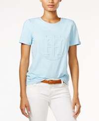 Tommy Hilfiger Logo Graphic T Shirt Only At Macy's Porcelain Blue