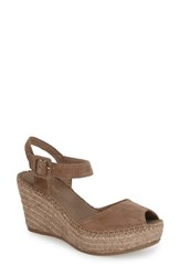 Toni Pons Women's 'Laura' Espadrille Wedge Sandal Taupe Suede