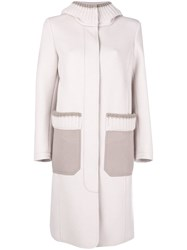 Lorena Antoniazzi Concealed Front Coat Nude And Neutrals