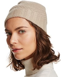 Bloomingdale's C By Waffle Knit Cashmere Hat Light Oatmeal