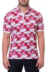 Maceoo Dexter Print Polo Red
