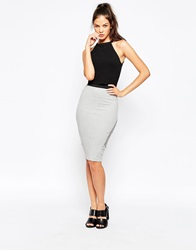 Eleven Paris Jersey Pencil Skirt Greychine
