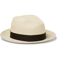 Lock And Co Hatters Foldable Woven Straw Panama Hat White