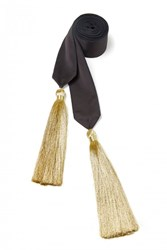 Amanda Wakeley Gold Tassel Judo Belt