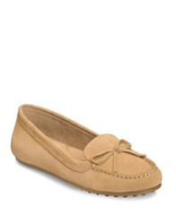 Aerosoles Long Drive Suede Moccasins Red